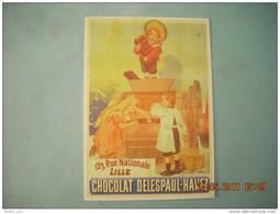 CLOUET   10988  CHOCOLAT DELESPAUL HAVEZ  MACHINE  LILLE    FIRMIN   BOUISSET 1892 - Lille