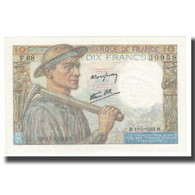 France, 10 Francs, Mineur, 1944, 1944-01-13, SPL, Fayette:8.10, KM:99e - 1871-1952 Gedurende De XXste In Omloop