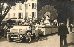Themes Div-ref DD42- Carte Photo - 13,5cms X 8,5cms - Fete De La Lavande A Digne En 1948- - Digne