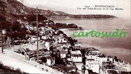 MONACO MONTE-CARLO - VUE SUR ST ROMAN ET LE CAP MARTIN - SUPERBE - Monte-Carlo