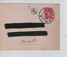 PR6858/ TP 138 S/L.format CV C.Fortune Saintes 1919 Adresse Barrée > BXL C.facteur 258 & BXL En Arrivée - Fortune Cancels (1919)