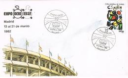 33747. Carta  MADRID 1982. Feria EXPO OCIO. Estadio Futbol ESPAÑA 82 - 1931-Hoy: 2ª República - ... Juan Carlos I