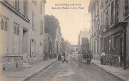 78-MAISONS-LAFFITTE-RUE DES PLANTES ET DE LA  POSTE - Maisons-Laffitte