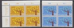 Europa Cept 1962 Switzerland 2v Bl Of 4 ** Mnh (44443G) - 1962