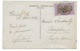 1932 - MADAGASCAR - CARTE De PERINET Avec AMBULANT TANANARIVE à TAMATAVE N°1 => COURPIERE - Lettres & Documents