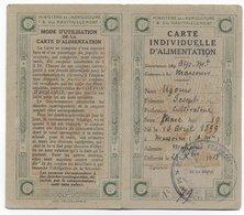 1918 - CARTE INDIVIDUELLE D'ALIMENTATION De MASSOUINS (ALPES MARITIMES) - Marcophilie (Lettres)