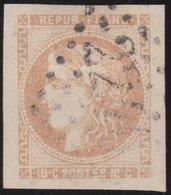 France  .   Yvert   .    43    (2 Scans)  .       O          .      Oblitéré - 1870 Emission De Bordeaux