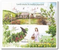 Moldavië 2018, Postfris MNH, Birds, Butterflies, Garden - Moldavia