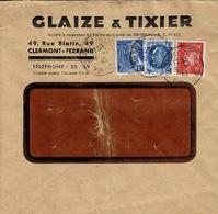 TP N° 507, 514 Et 407 Sur Enveloppe Des Ets Glaize Et Tixier De Clermont-Ferrand - Marcophilie (Lettres)