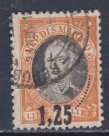 Saint-Marin N° 130 O, Timbre  Surchargé : 1 L. 25 Sur 1 L. Orange Oblitération Moyenne Sinon TB - Oblitérés