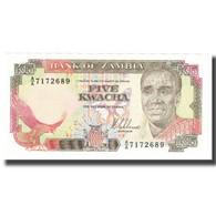 Billet, Zambie, 5 Kwacha, KM:30a, NEUF - Zambie