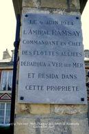 Ver-sur-Mer (14)- Plaque à L'Amiral Ramsey (Edition à Tirage Limité) - France