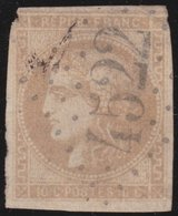 France  .   Yvert   .    43    (2 Scans)  .       O          .      Oblitéré - 1870 Bordeaux Printing