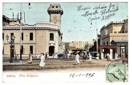 LE CAIRE - CAIRO - Fire Brigade - Carte Colorisée - Ed. L. & H., Cairo, N° 1 - Cairo