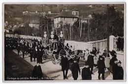 CPA 38 Isère Rare La Tronche Carte Photo Cortège Funéraire Du Peintre Hébert 1908 Très Bon état Oddoux Et Gaude Grenoble - La Tronche