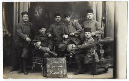 CPA Carte Photo Militaire Darmstad Darmstadt  Militaires Français Camp De Prisonniers ? 33e 33eme Régiment RI Arras ? - Guerra 1914-18