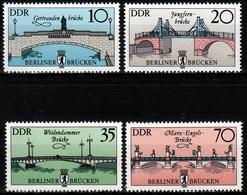 DDR MiNr. 2972/75 ** Historische Brücken In Berlin - Unused Stamps