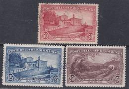 Saint-Marin N° 137 / 39 X,O  Partie De Série, Les 3 Valeurs  Trace De Charnière Ou Oblitérées Sinon TB - Saint-Marin