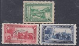 Saint-Marin N° 164 O +165  66 X  Partie De Série, Les 3 Valeurs  Trace De Charnière Ou Oblitérées Sinon TB - Oblitérés