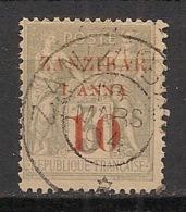 Zanzibar - 1894 - N°Yv. 13 - Type Sage 1 Anna Et 10 Sur 3c Gris - Type I - Signé Brun - Oblitéré / Used - Gebraucht