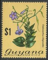 Guyana. 1971 Flowering Plants. $1 MNH. SG 554 - Guyana (1966-...)