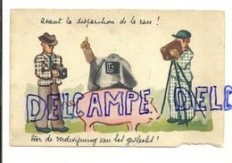 """Cochon Entouré De Photographes. """"Avant La Disparition De La Race"""". Ets. Protin & Vuidar - Illustratori & Fotografie"""