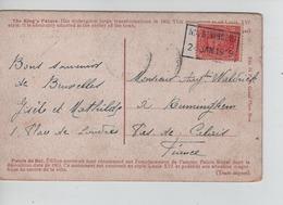 PR6860/ TP 138 S/CP BXL Palais Du Roi C.Fortune Nil St.Vincent 21/1/19 > Ruminghem Pas De Calais France - Poststempel