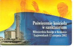 Télécarte à Puce Pape Jean-Paul II Pologne - Personnages