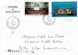 TP N° 2945 Seul  Sur Enveloppe Du Congrès Du Parlement à Versailles Avec Vignette - Marcophilie (Lettres)