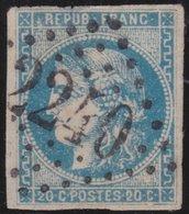France  .   Yvert   .    46 A     .       O          .      Oblitéré - 1870 Emission De Bordeaux