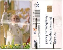 Telecarte à Puce Neuve Sous Blister Pape Jean-Paul II Pologne 500ex (2008) - Personajes