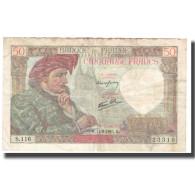 France, 50 Francs, Jacques Coeur, 1941, 1941-09-11, TTB, Fayette:19.14, KM:93 - 1871-1952 Antichi Franchi Circolanti Nel XX Secolo