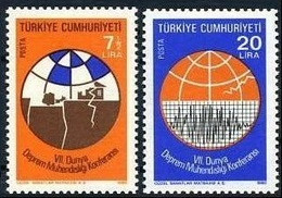1980 TURKEY 7TH WORLD CONFERENCE ON EARTHQUAKE ENGINEERING MNH ** - Ongebruikt