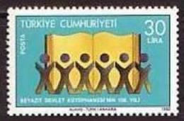 1982 TURKEY CENTENARY OF BEYAZIT STATE LIBRARY MNH ** - 1921-... República