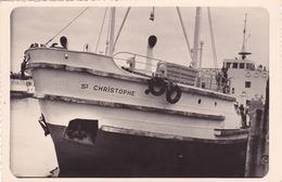 PHOTO Du SAINT CHRISTOPHE - Bateau Faisant La Liaison (BAC) Entre Saint Nazaire Et MINDIN - Années 1950 - Barche