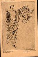 LOUIS RAEMAEKERS..( Se Vend Au Profit Des Orphelins De La Guerre)    LA CONSCIENCE UNIVERSELLE.....CPA - Autres Illustrateurs