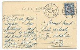 MAROC - 1920 - MOUCHON Sur CARTE De RABAT => FEZ POSTE RESTANTE - Lettres & Documents
