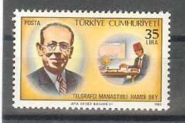 1983 TURKEY TELEGRAPHIST HAMDI BEY FROM MANASTIR MNH ** - 1921-... República