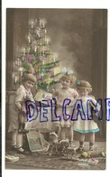 Joyeux Noël. Photographie. Enfants, Sapin Illuminé,  Jouets, Poupées, Cheval à Bascule. 1921 - Kerstmis