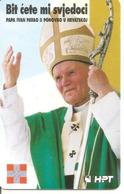 Télécarte à Puce Pape Jean-Paul II De Croatie - 1998 - - Personnages