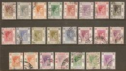 HONG KONG 1938 - 1952 SET OF 23 STAMPS SG 140/162 FINE USED Cat £250 - Hong Kong (...-1997)