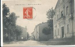 AN 682 /  C P A -  SEMALENS   (81)  MAIRIE ET RUE DU MINEU - Francia