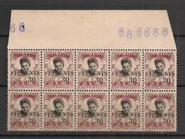 Tchong-King - 1919 - N°Yv. 90 - Cambodgienne 12c Sur 30c - Bloc De 10 Bord De Feuille - Neuf GC ** / MNH - Ungebraucht