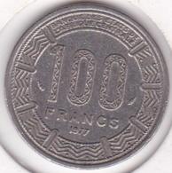 Republique Gabonaise. 100 Francs 1977 , En Cupro Nickel .KM# 13 - Gabón