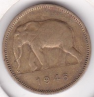 CONGO-BELGE. 2 FRANCS 1946. (Éléphant) - Congo (Belge) & Ruanda-Urundi