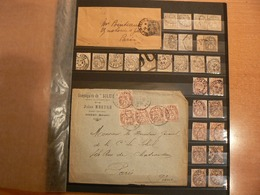 LOT COLLECTION / TYPE BLANC OBL/ N° 107 A N° 111 / LETTRES ET TIMBRES / 4 PHOTOS - France