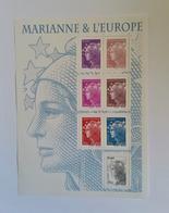 FEUILLET MARIANNE ET L'EUROPE YT F4614 ANNEE 2011 NEUF EXCELLENT ETAT - Bloc De Notas & Hojas