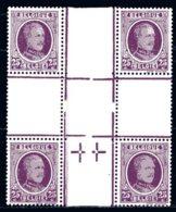 BE   198   XX    ---   Superbe Bloc De 4 En Intersection De Panneaux - 1922-1927 Houyoux