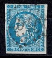 France Ceres Emission De Bordeaux YT N°46 Obl. - 1870 Emission De Bordeaux