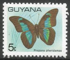 Guyana. 1978 Butterflies, 5c MNH. SG 698 - Guyana (1966-...)